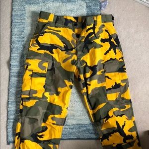 Urban Outfitters Yellow Camo Pants